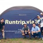 9/2 「Runtrip via」それぞれの出発地から一つのゴールに向けて走り、ゴールではビールで乾杯!