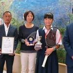 8/28 全日本ジュニアテニス選手権12歳以下で優勝!!市長表敬訪問へ