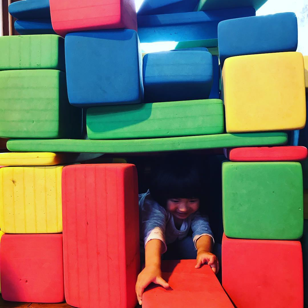 娘と一緒にお城を建築!