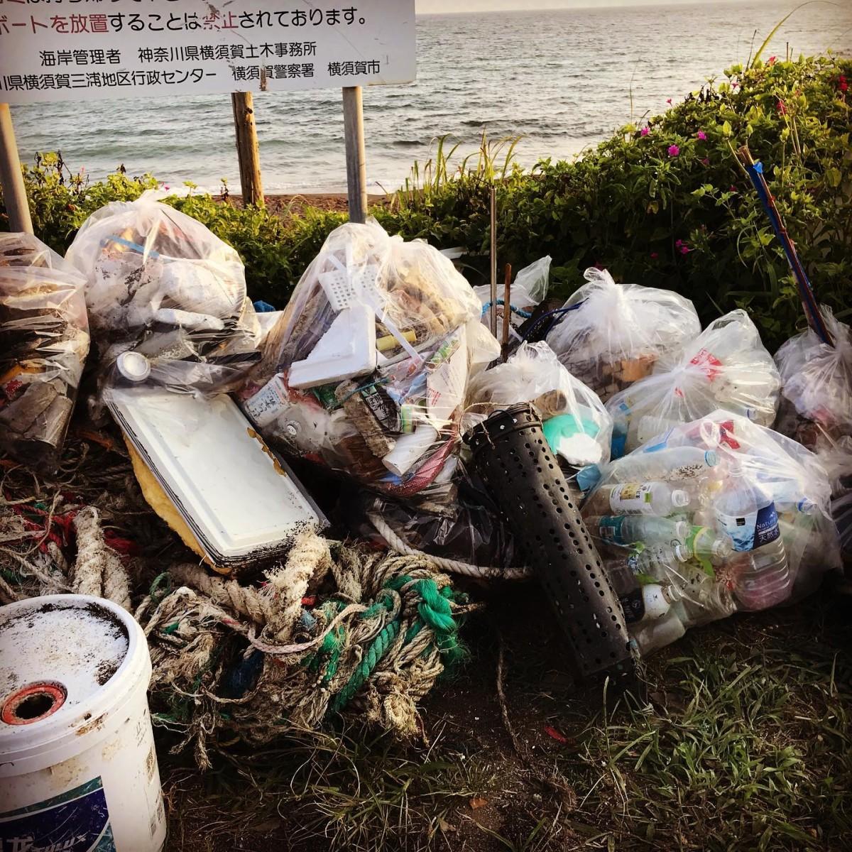先週末は町内で海岸清掃!
